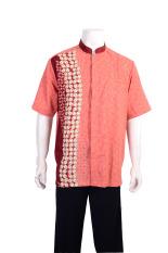 Batik Arjunaweda Kemeja Kerja Batik Pria - Kawung - Merah
