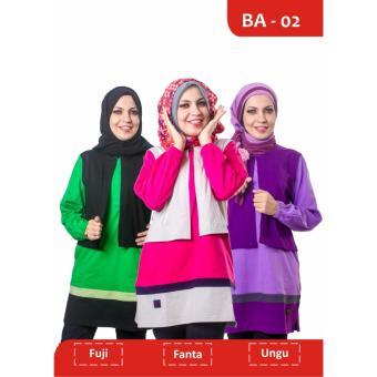 Believe Blouse Atasan BA-02 Kaos Wanita Baju Muslim Tunik Kemeja Kaos Ungu