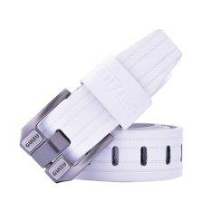 Big Pin Alloy Buckle PU Leather Waist Strap Men Belt (White) - INTL