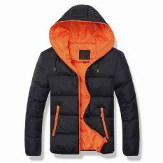 Black&Orange Splice 2017 NEW Arrived Autumn Winter Duck Down Jacket Hooded Winter Jacket For Men Fashion Mens Joint Outerwear Coat Plus Size - Intl