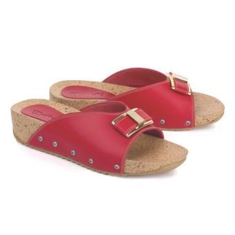 Blackkelly Sandal Flat Skyla LOD 632 - Merah