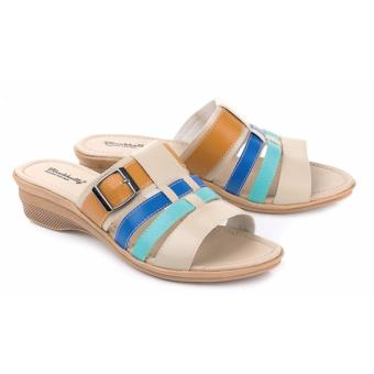 Blackkelly sandal wanita 50- cream combi