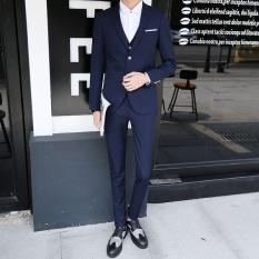 (Blazer+Pants+Vest) Fashion Men's Suit Shine Patterns Casual Men Stage Clothing Wedding Groom Vintage Mens Suits - intl
