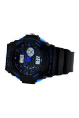 Bluelans Men's Double Time Stopwatch Mountaineer Quartz Wrist Watch Blue