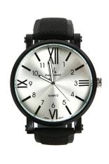 Bluelans Men's Black Silicone Strap Watch
