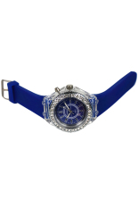 Blue Lans Unisex Silicone Luminous Light Wrist Watch Sapphire Blue