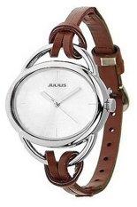 Bluelans Women's Oval Slim Faux Leather Analog Quartz Watch Brown