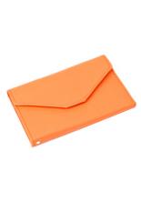 Bluelans Credit ID Card Holder Travel Passport Organizer Bag Purse Handbags Orange