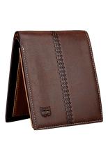 Bluelans Men's Faux Leather Bifold Card Holder Wallet Handbag Coffee Horizontal