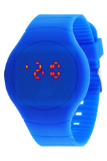 Blue Lans Unisex Ultra-thin Sport Touch LED Digital Wrist Watch Sapphire Blue