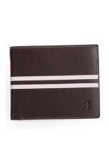 Bogesi Dompet Pria White Line Fashion Wallet - Coklat