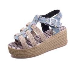 Bohemian Summer Sweet Girls Sandals Wedges Thick Waterproof Fashion Shake Pendulum Female Sandals Shoes