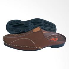 boorselly sepatu pria formal / sandal pria bustong - tan