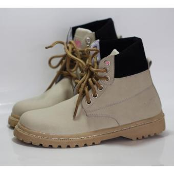 boots fashion wanita - cream