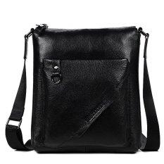 Bostanten Men's Cow Leather Handbag Crossbody Shoulder Briefcase Messenger Purse Bag Black