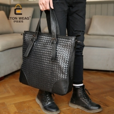 Brand Design New Knit Men's Handbag Cool Men Single Shoulder Bag Korean Men's Handbag Crossbody Backpack-Black - Intl
