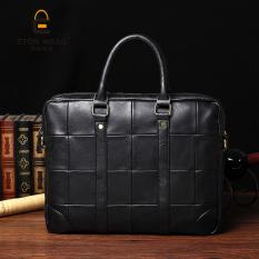 Brand Design New Korean Men's Handbag Crossbody Bag Portable Bag Leisure Old School Laptop Bag Briefcase Cool -Black (Intl) - Intl