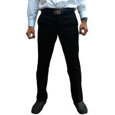 Bunda Wulan Celana Bahan Kerja Pria Slim Fit - Hitam