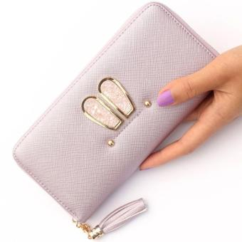 Bunny Long Fashion Wallet Dompet Fashion Wanita Korean Fashion Wallet Purple .