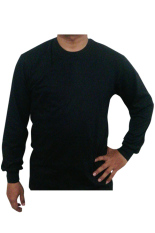 Bursa Kaos Polos - Kaos Polos Big Size Lengan Panjang - 3L - Hitam