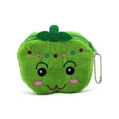 BUYINCOINS Lovely Portable Fruit Wallet Bag Change Girl Character Coin Purse Plush Handbag
