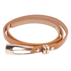 BUYINCOINS New Hot Fashion Women Multicolor Waistband PU Leather Thin Skinny Buckle Belts