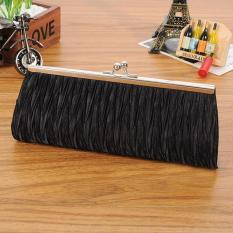 BUYINCOINS Satin Pleated Wedding Bridal Clutch Elegant Purse Lady Handbag Evening Party Bag - intl