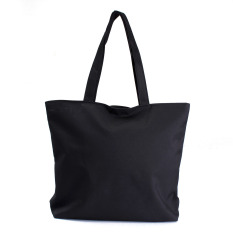 Canvas Shopper Handbag Shopping Summer Beach Shoulder Bag Black
