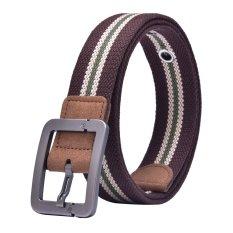 Canvas Strap Pin Buckle Men Belt (Coffee) - INTL