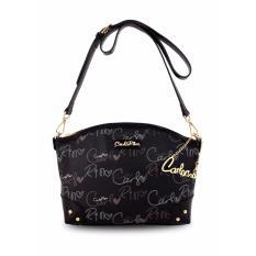 Carlo Rino 0303059-001-08 Small Signature Shoulder Bag (Black)
