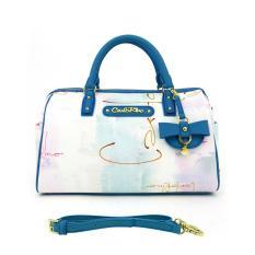Carlo Rino 0303177-003-23 2-way Boston Bag (Blue)