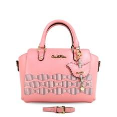 Carlo Rino 0303270-001-34 Small satchel with silkscreen pattern (Pink)