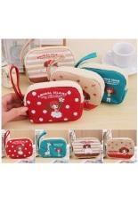 Cartoon Girls Coin Small Cute Purse Mini Bag Kids Wallets Pink Zipper Pouch Pink BB109-SZ +