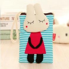Cartoon Wallet Cartoon Phone Bag Canvas Purse Bag Female Messenger Bag - intl