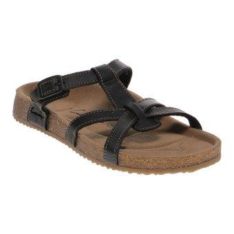 Carvil Ernest-03L Ladies Sandal Footbed - Black