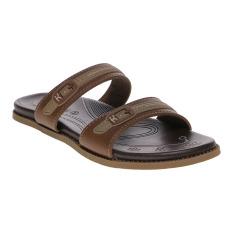 Carvil Etios-02L Ladies Sandal Casual - Stone-Dk Brown