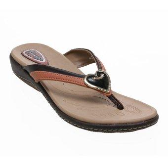 Carvil Hasten-01L Casual Sandal Wanita - Cokelat Tua