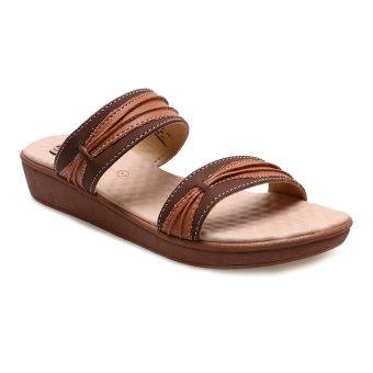 Carvil Modif-03L Casual Sandal Wanita - Cokelat Tua