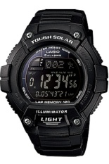 Casio Tough Solar Digital Watch Jam Tangan Pria - Resin Strap - Hitam - W-S220-1BVDF