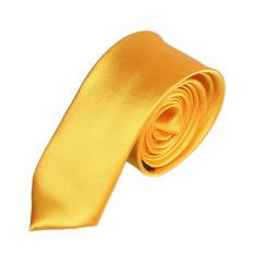 Casual Slim Plain Mens Solid Skinny Neck Party Wedding Tie Necktie Gold