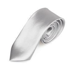 Casual Slim Plain Mens Solid Skinny Neck Party Wedding Tie Necktie Silver