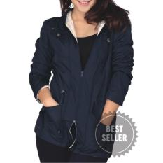 Catenzo Jaket Parka Wanita - Best Seller - Mayer - Navy