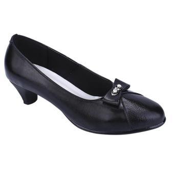 Catenzo |Jual Sepatu Formal Wanita - HA 060 | Bahan : LEATHER | Warna : HITAM