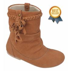 Catenzo Junior Sepatu Boot Anak Perempuan CTA 014 Tan Oktopus