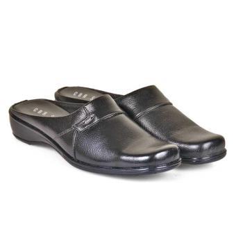 Cbr Six Puc 716 Sepatu Slop Pantofel/Formal Wanita-Kulit-Nyaman Dan Modis ( Hitam )