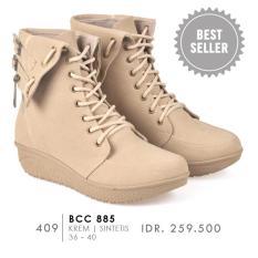 CBR SIX Sepatu Boots Wanita BCC 885 - Best Seller Cream
