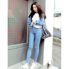 Celana HW Jeans Biru Muda Casseroles Light