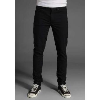 Celana Jeans Pria Slimfit Hitam Pekat - Jeans Melar - Stretch - Black Denim