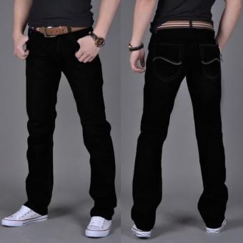 Celana Panjang Pria Santai Model Tipis Sederhana (Hitam #508 model celana jeans)