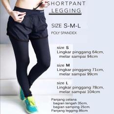 Celana Sport Lapis Legging - Abu